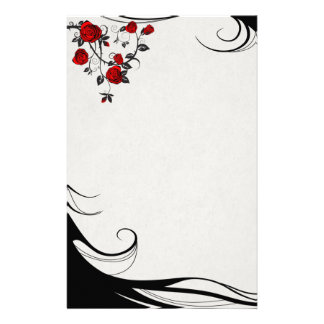 Red Roses Stationery