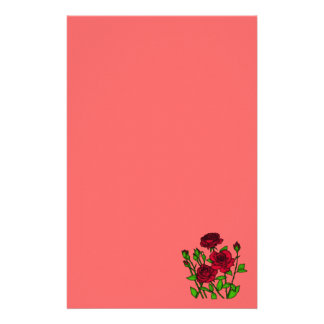 Red Roses Stationery Design