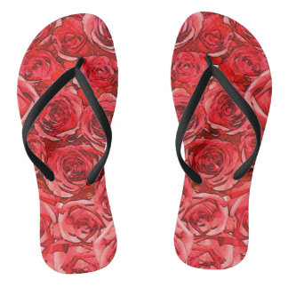 Red Roses Thongs