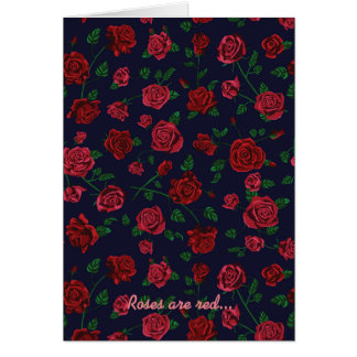Red Roses Valentine's Card