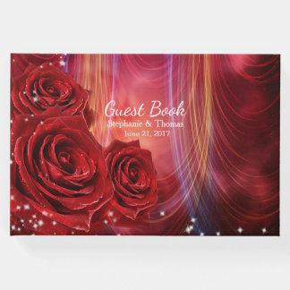 Red Roses Wedding Guest Book
