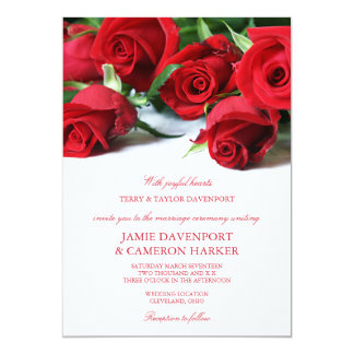 red rose wedding invitations & announcements | zazzle.au, Wedding invitations