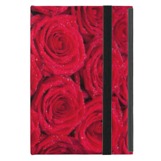 Red roses with water drops iPad mini cases