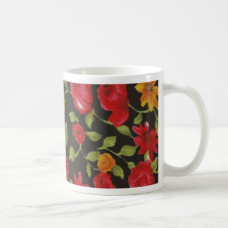 Red Roses Yellow Daisies Coffee Mugs