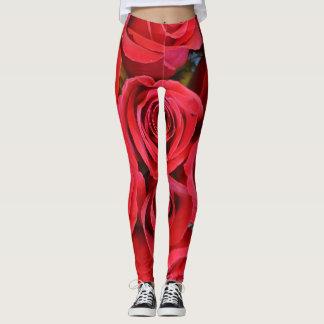 Red Roses - Yoga Pants  Leggings at eZaZZleMan.com