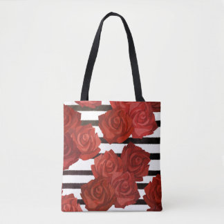 Red Rosy Style Tote Bag