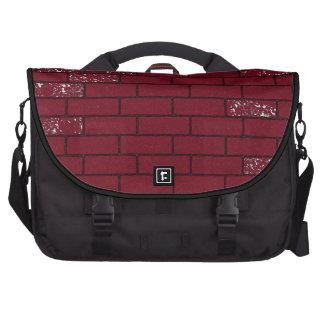 red rough bricks bag bag for laptop