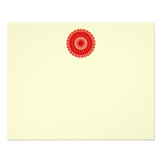 Red Round Lace Pattern Graphic. 11.5 Cm X 14 Cm Flyer