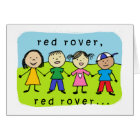Red rover 30th birthday card