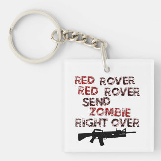 Red Rover Single-Sided Square Acrylic Key Ring