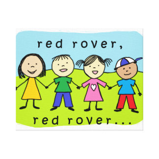 Red rover wrapped canvas canvas print