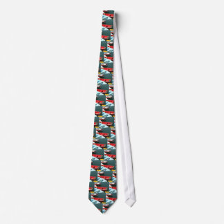Red row boat tie