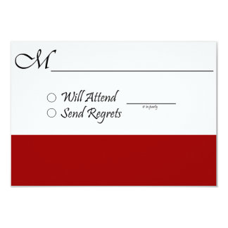 Red RSVP Card for Wedding or Graduation