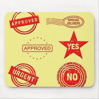 Red Rubber Stamps Mouse Pad