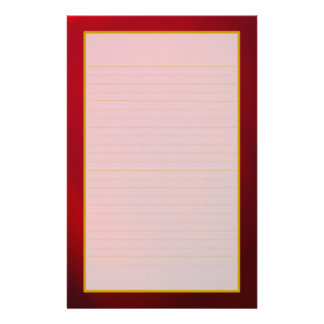 Red Ruby Fine Lined Stationery
