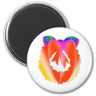 Red Ruby Jewel Flair Wreath : ENJOY n share JOY 6 Cm Round Magnet