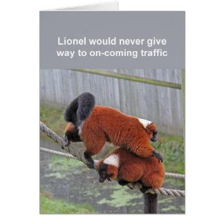Red-ruffed lemurs card