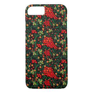 Red Russian Khokhloma Design Accessories iPhone 8/7 Case