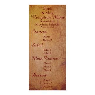 Red Rustic Lesbian Bride Wedding Reception Menu 10 Cm X 24 Cm Invitation Card