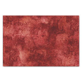 Red Rustic Texture Tissue Paper