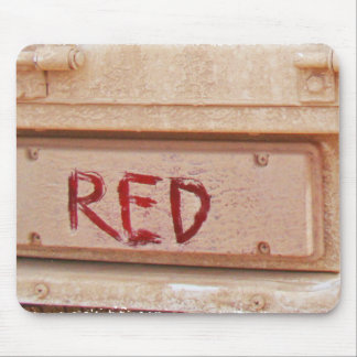 Red rustic ute tailgate tail light mouse pad