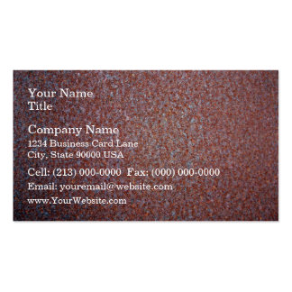 Red Rusty Metal Texture Business Card Template