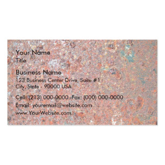 Red Rusty Metal Texture Business Card