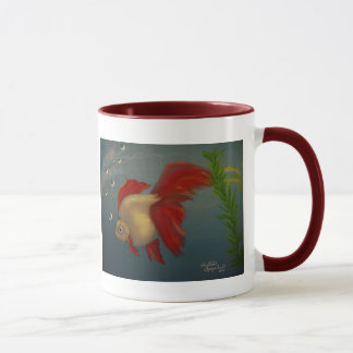 Red Ryukin Goldfish Mug