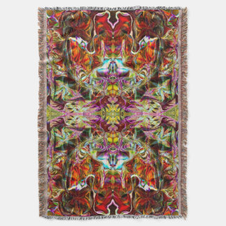 Red Sacred Bridge Yoga Blanket by Deprise
