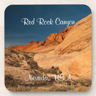Red Saddle Rocks; Nevada Souvenir Coasters