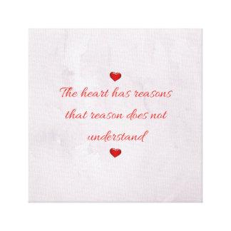 Red Saint Valentine's Day Canvas Print