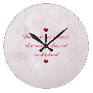 Red Saint Valentine's Day Large Clock