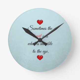 Red Saint Valentine's Day Round Clock