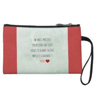 Red Saint Valentine's Day Wristlet