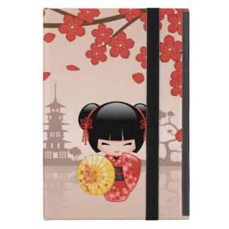 Red Sakura Kokeshi Doll - Japanese Geisha iPad Mini Case