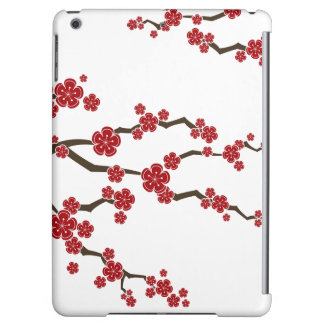 Red Sakura Modern Asian Cherry Blossom iPad Case