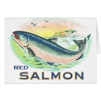 Red Salmon - Vintage Food Crate Label Card