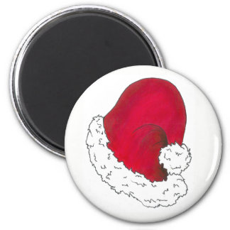 Red Santa Claus Hat Merry Christmas Xmas Holiday Magnet