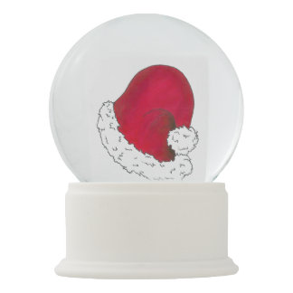 Red Santa Claus Hat Merry Christmas Xmas Holiday Snow Globe
