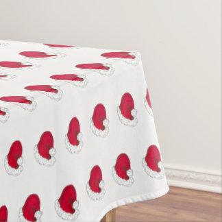 Red Santa Claus Hat Merry Christmas Xmas Holiday Tablecloth