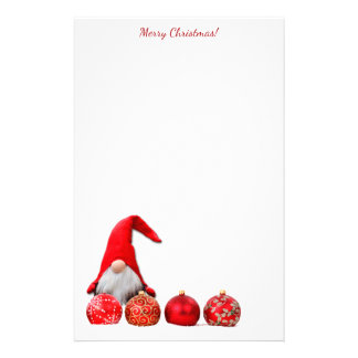 Red Santa Gnome Christmas