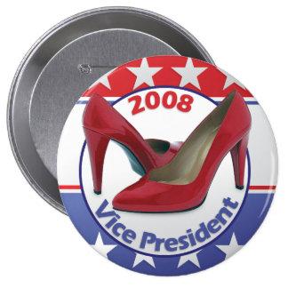 Red Sarah Palin Pumps 10 Cm Round Badge