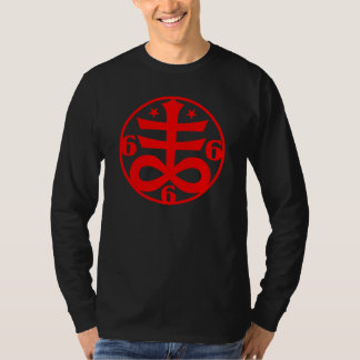 Red Satanic Cross Occult Goth Symbol T-Shirt
