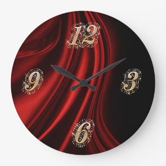 Red Satin Bling Wall Clock