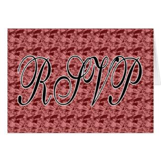 Red Satin RSVP Card