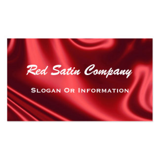 Red Satin & White Lace On Back Business Cards