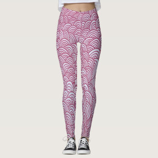 Red Scales in the Sunset Leggings