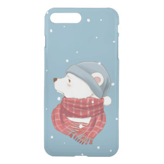 Red Scarf Polar Bear Hate the Cold Snowy Winter iPhone 8 Plus/7 Plus Case