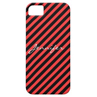 Red Scarlet and Black Stripes iPhone 5 Case