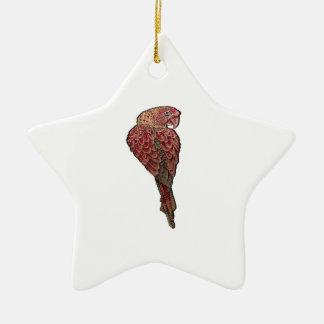 Red Scarlet Ceramic Ornament